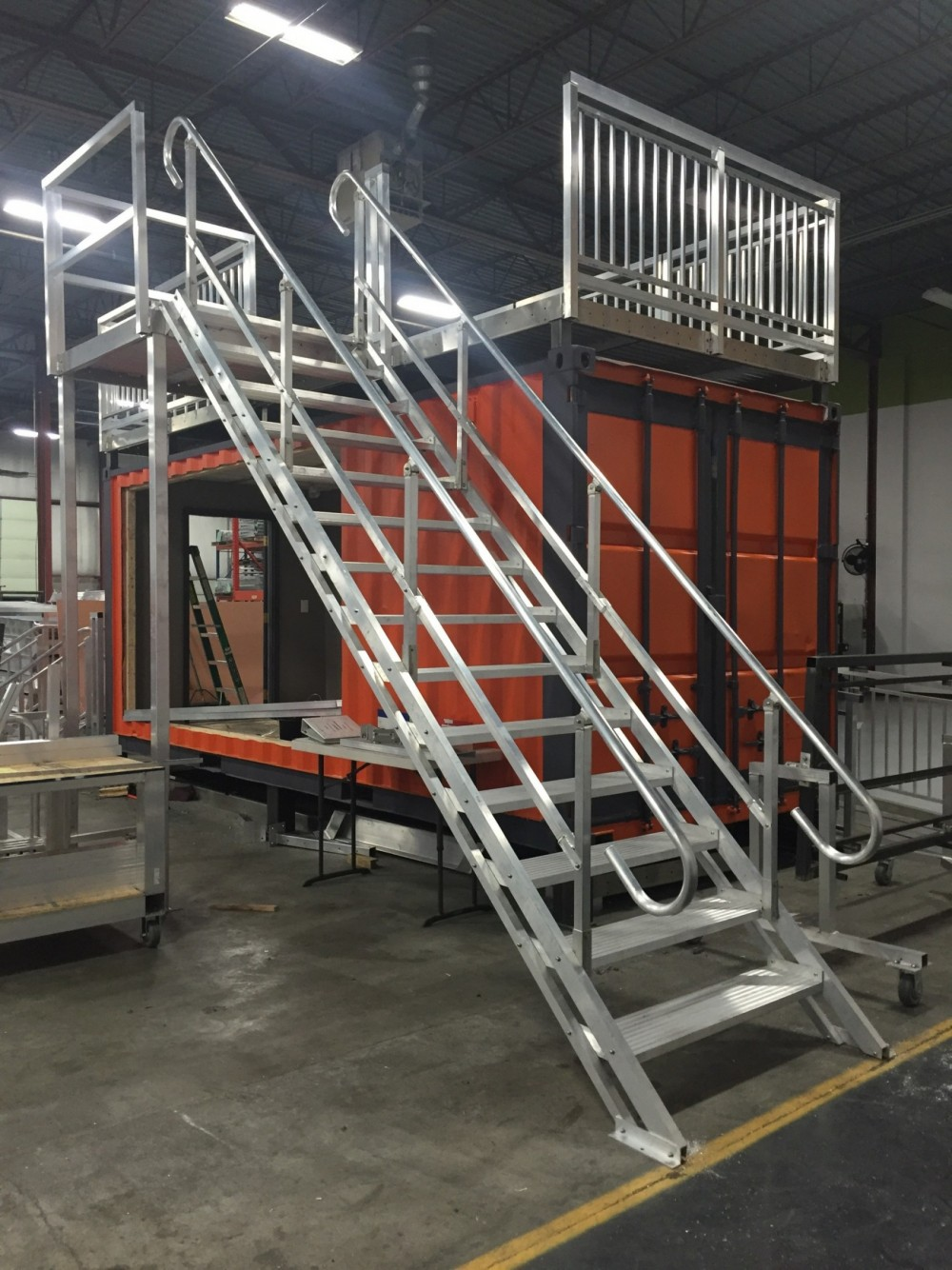 Second Story OSHA Adjustable Steps