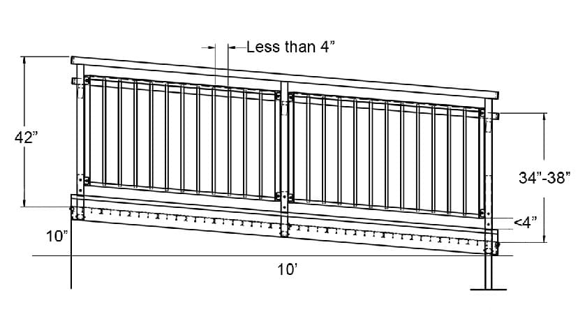 ADA Ramp Side View Dimensions