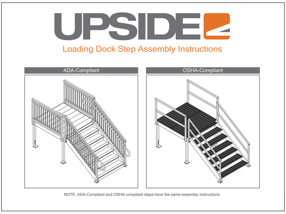 How to assemble loading dock stairs