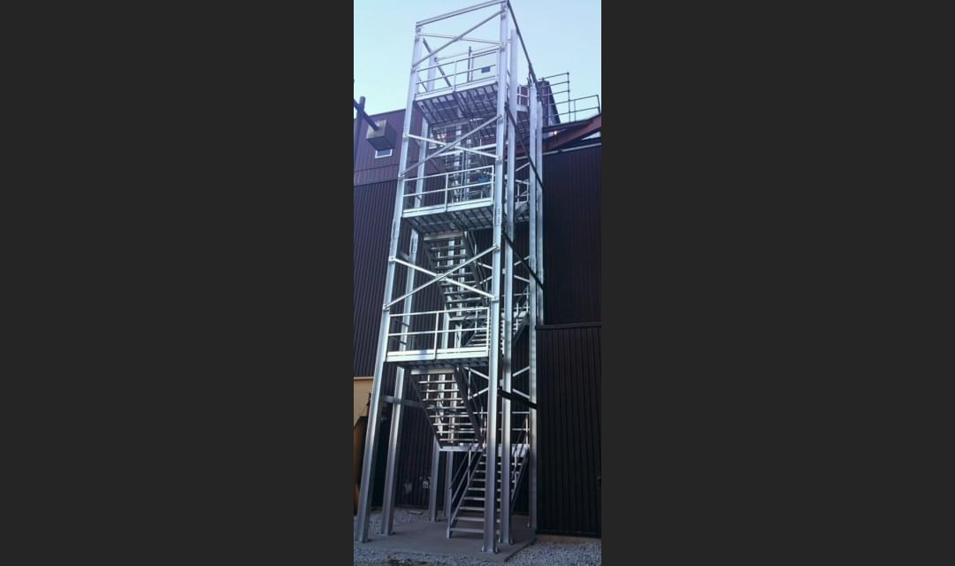 industrial roof access stairs