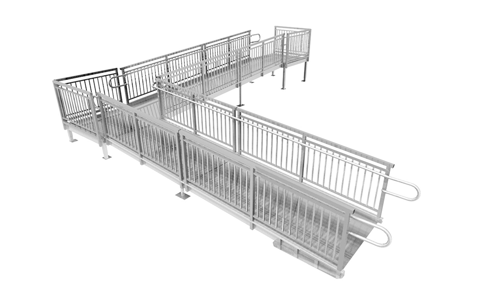 prefabricated aluminum L-ramp