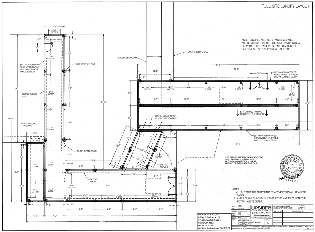 Covered Walkway System Layout