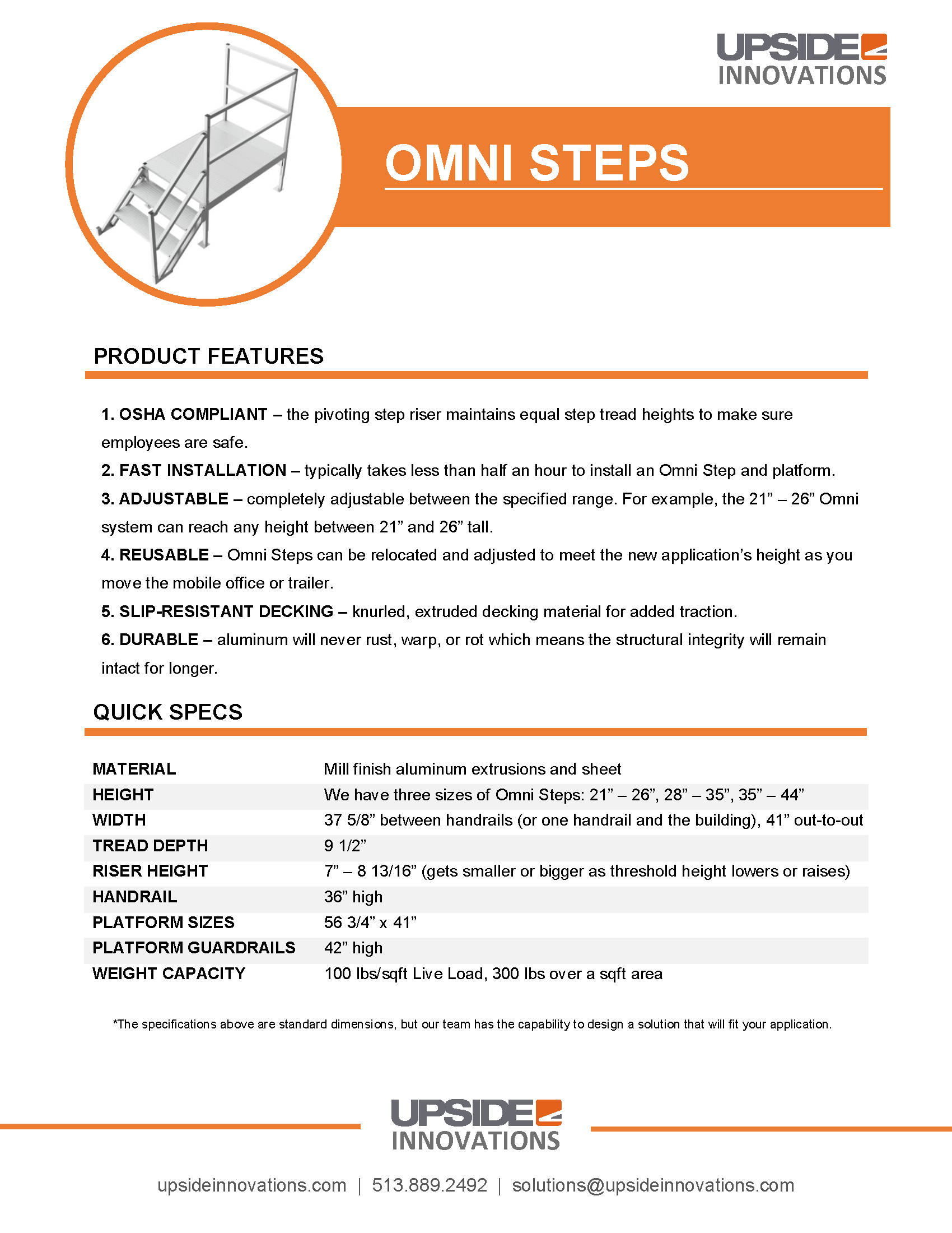 omni-stairs-specifications