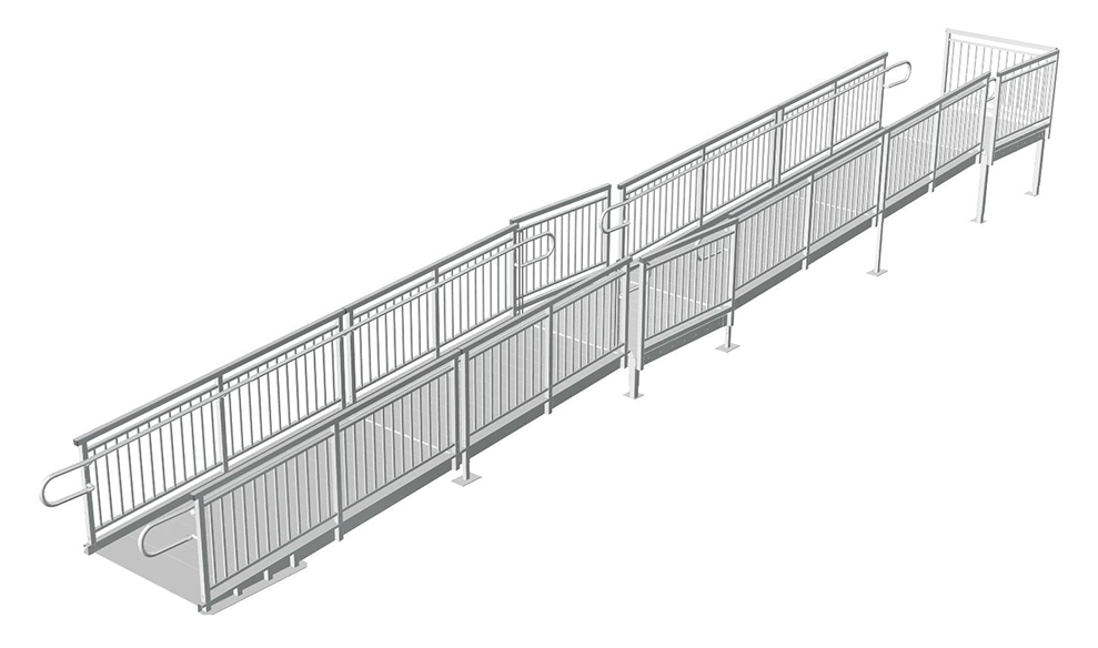 straight aluminum wheelchair ramp