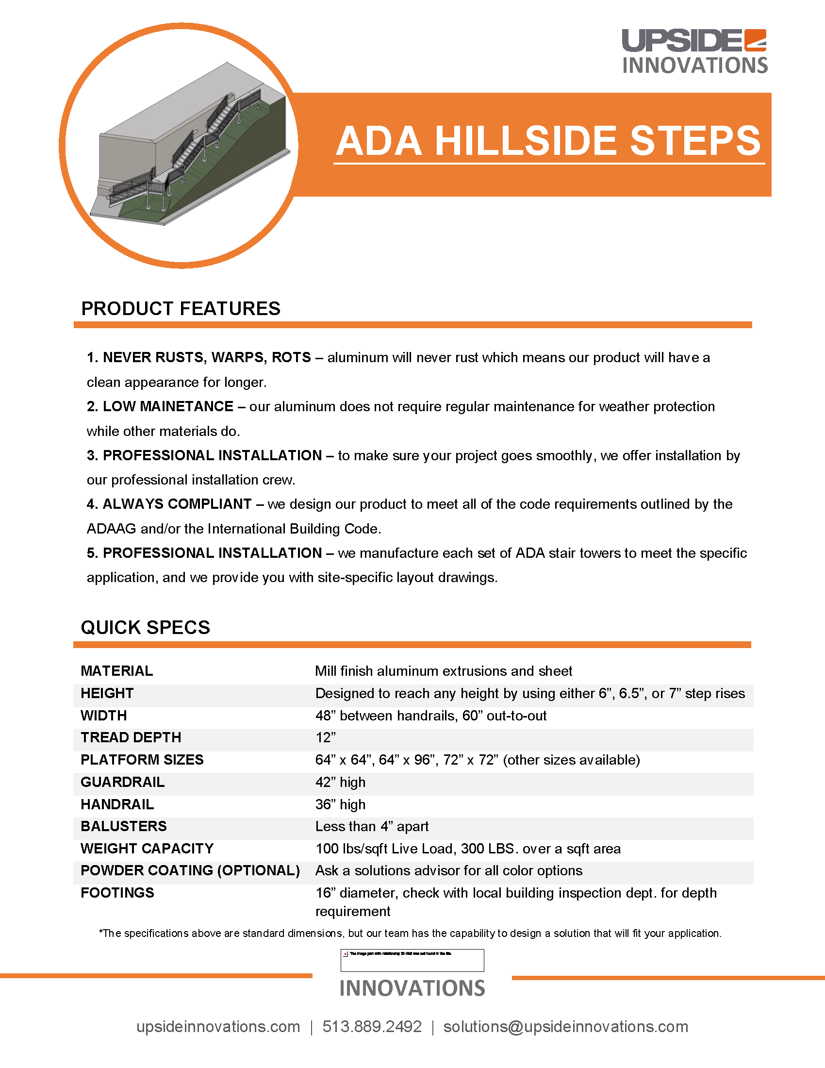 ADA Hillside Steps Specifications