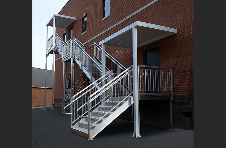 ada aluminum stairtower and canopy