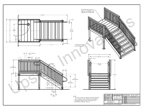 ADA loading dock stair layout