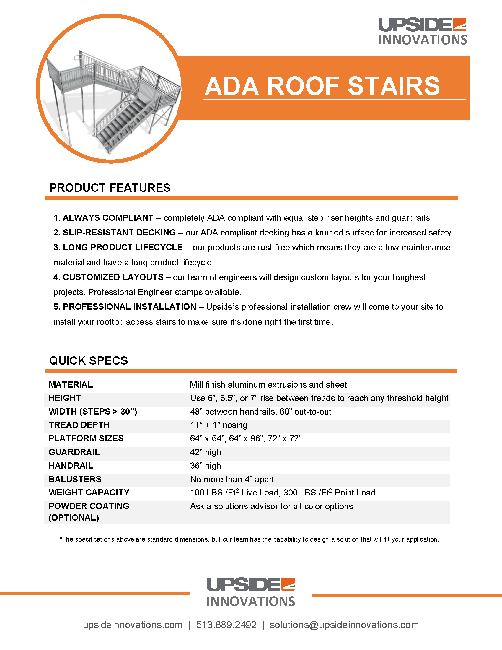 ada roof access stairs