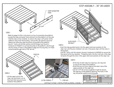 ada step assembly instructions