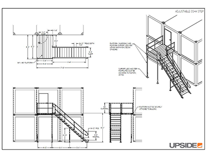 adjustable-inplant-office-stair-drawing