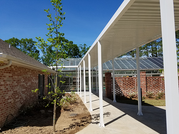 Covered Walkway Canopy With W Pan Decking Upside Innovations