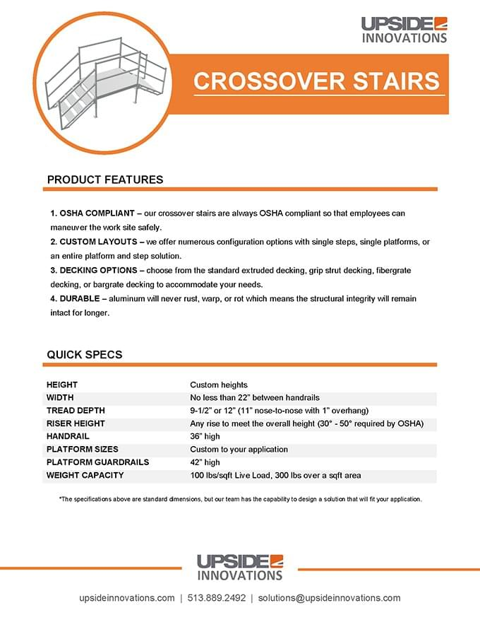 Crossover Stairs and Platforms | Upside Innovations
