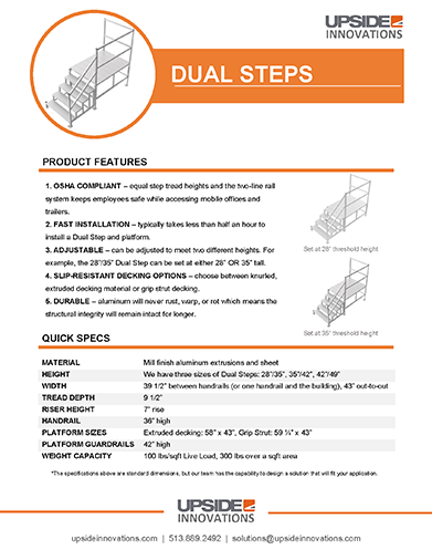 Dual step specifications