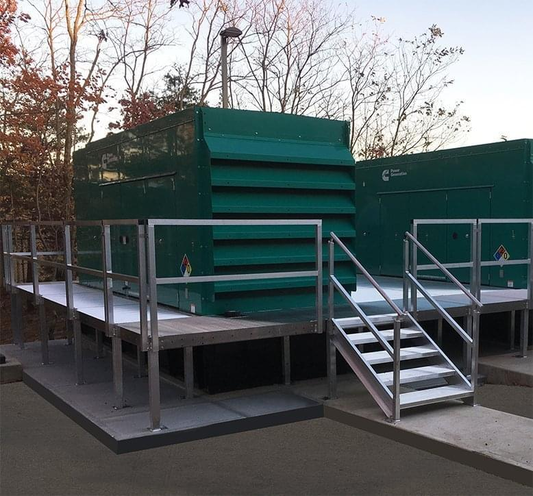 elevated walkway generator stairs
