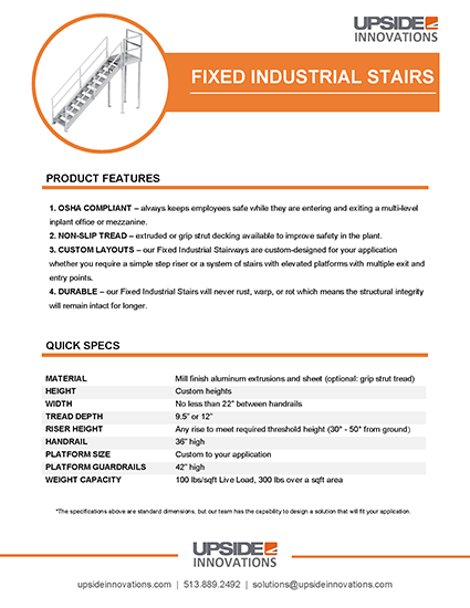 fixed-industrial-stair-specifications