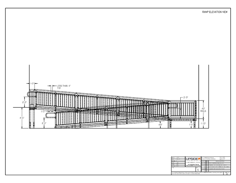 ada ramp elevation drawing