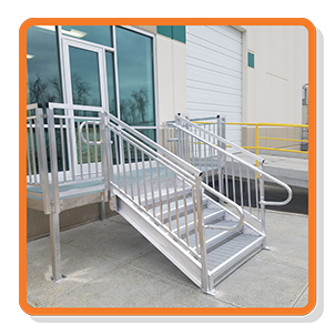 industrial loading dock steps