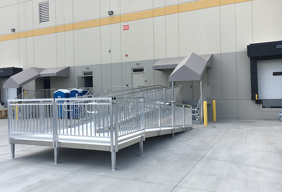 Loading dock walk ramp