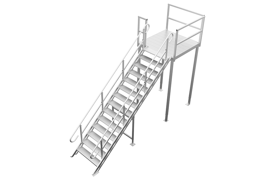 mobile office adjustable roof access stairs