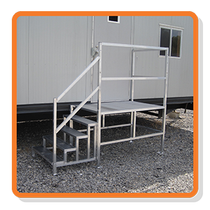 adjustable mobile office stairs