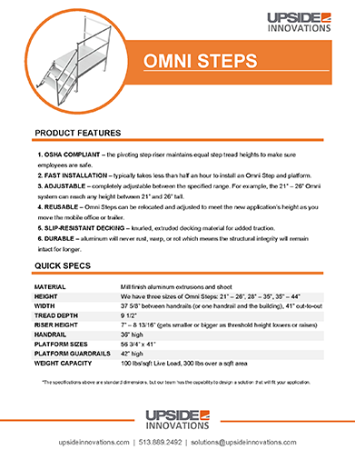 Omni step specifications