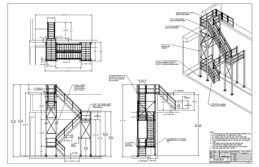 roof access stair drawing