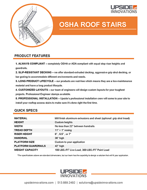 osha roof access stairs