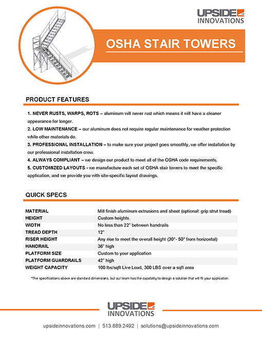 osha stair tower specifications