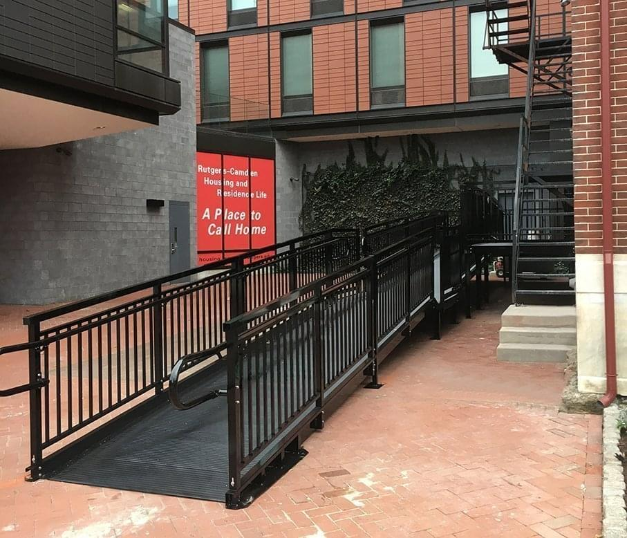 powder coated aluminum ramp