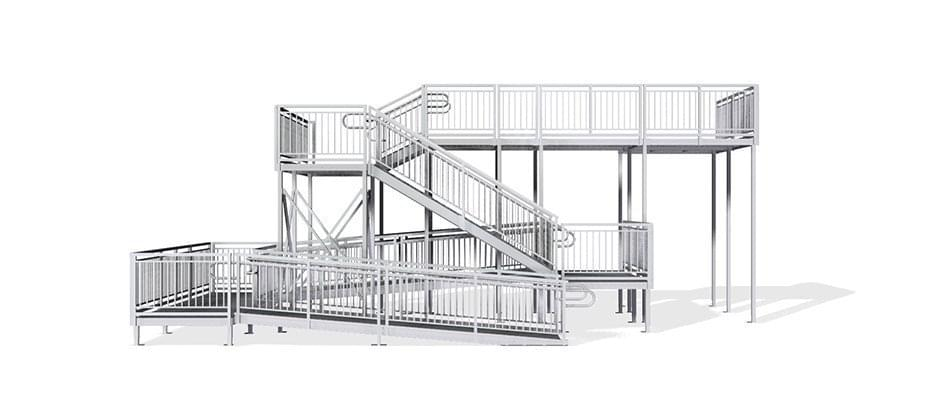 second story aluminum stair towers