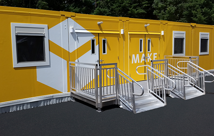 Prefabricated Metal Stairs for Modular Classroom