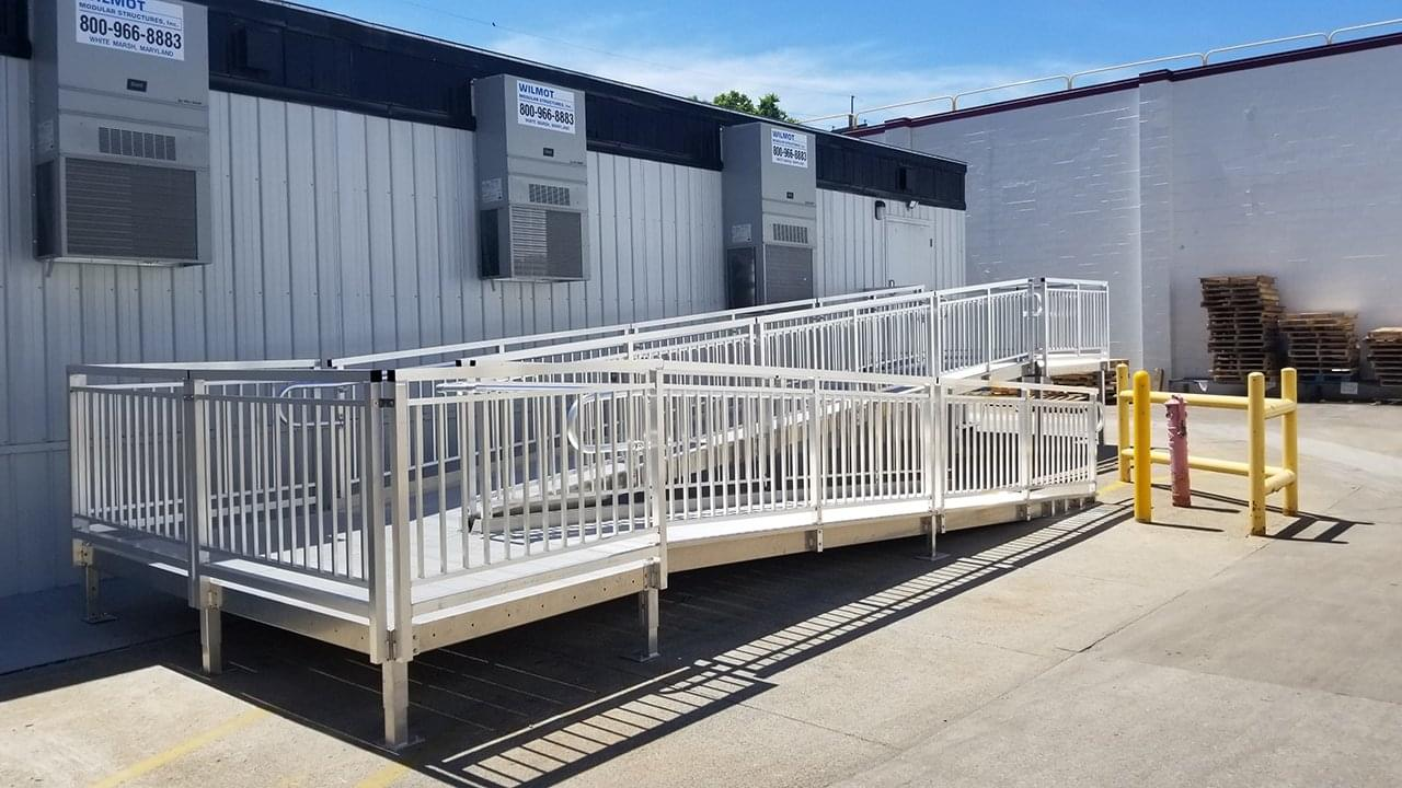switchback aluminum ramp