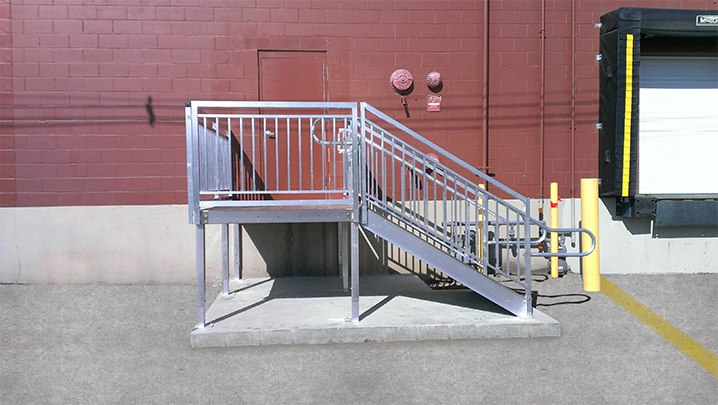 Loading Dock Stairs Side Approach