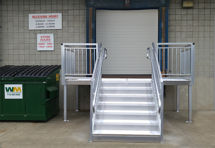 Loading Dock Door Stairs