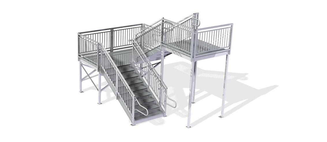 second story stair system