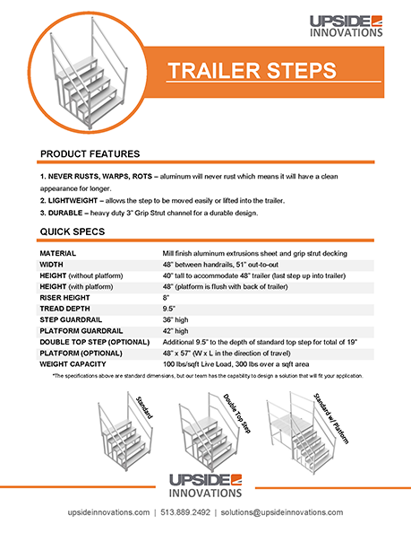trailer-step-specifications