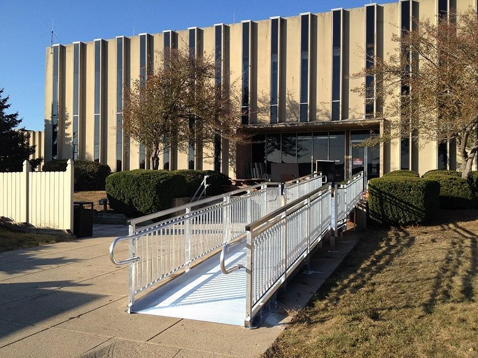 Commercial Ada Ramp For Office Building Upside Innovations