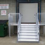ada loading dock stairs for dock door