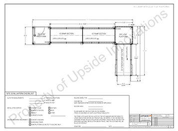 30-foot ADA L-shape wheelchair ramp layout drawing