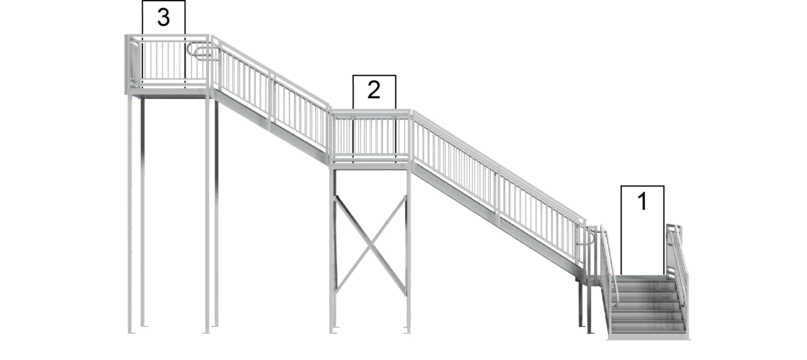 multi-story stairway width calculation