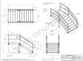 loading dock stairs layout drawing
