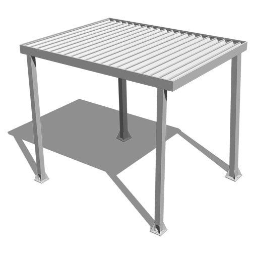 Aluminum canopy rendering with shadow