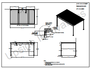 Layout drawing of aluminum entrance canopy