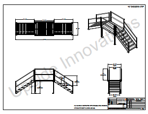 Crossover Stairs Layout Drawings