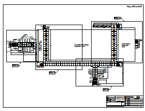 Layout drawing of industrial walkways, stairs, and ramps