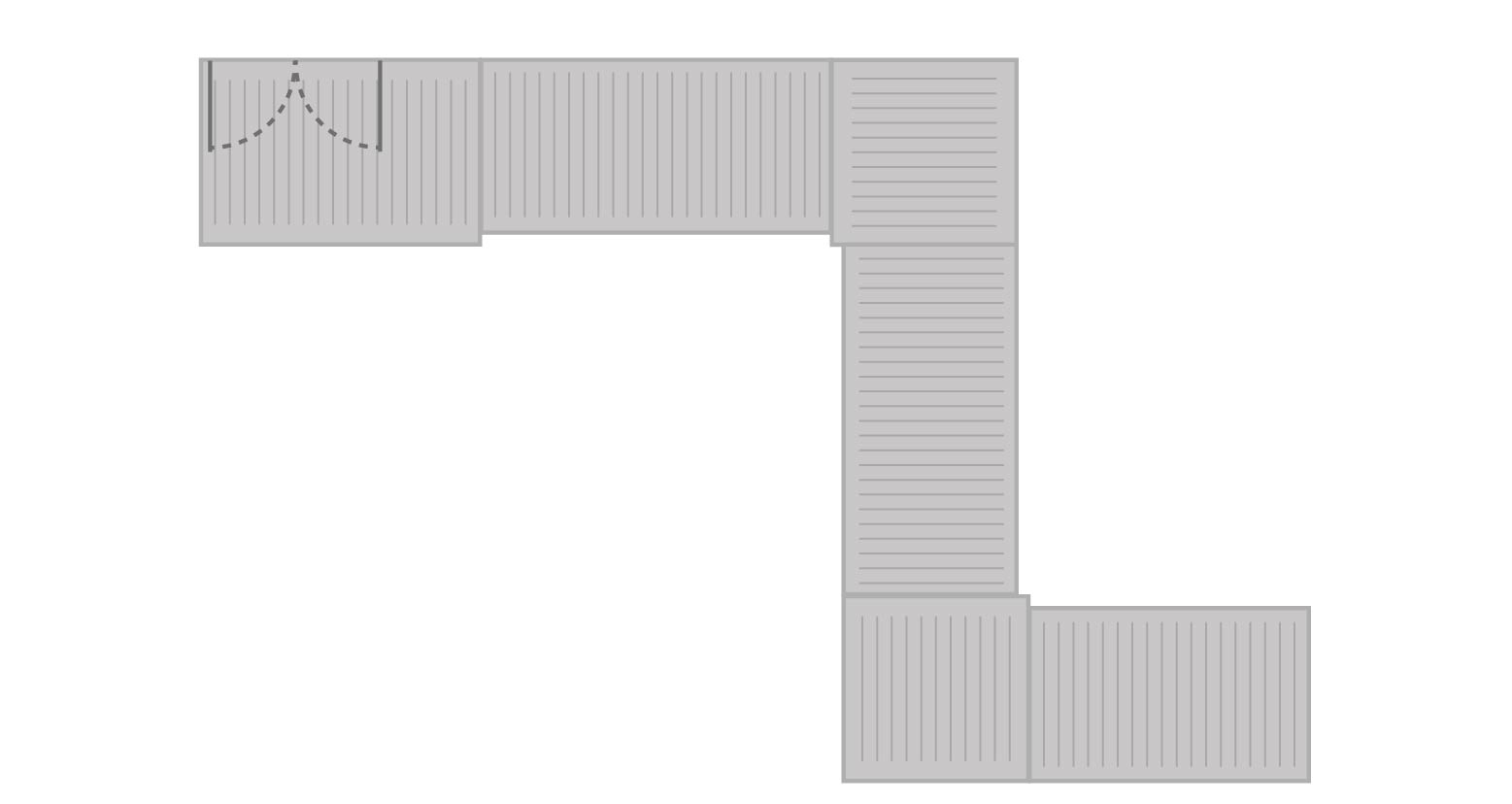 26' aluminum ramp sample configuration illustration