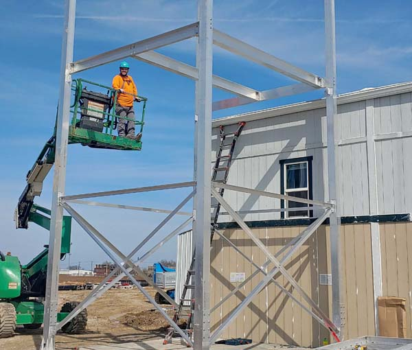 Observation Stair Tower Installation