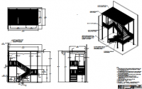Layout of ADA fire escape exit stairs with canopy overtop
